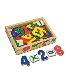 Melissa And Doug Wooden Number Magnets - 37 Pieces