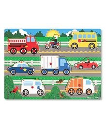Melissa And Doug Vehicles Puzzle Multicolor - 8 Pieces