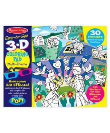 Melissa And Doug 3D Coloring Book Girl - Multicolor