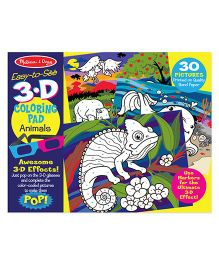 Melissa And Doug 3D Coloring Book Animals - Multicolor