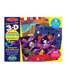 Melissa And Doug 3D Coloring Book Adventure - Multicolor