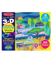 Melissa And Doug 3D Coloring Book Habitats - Multicolor
