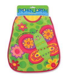 Stephen Joseph Wipe Able Bib Butterfly - Green