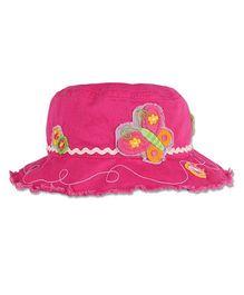 Stephen Joseph Bucket Hat Butterfly Patch - Pink