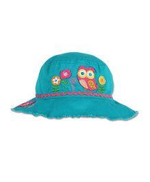 Stephen Joseph Bucket Hat Owl Patch - Sea Green