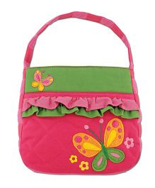 Stephen Joseph Quilted Purse Butterfly Design - Pink