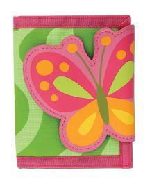 Stephen Joseph Wallet Butterfly - Pink And Green