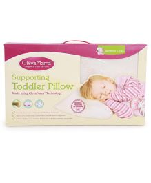 Clevamama ClevaFoam Toddler Pillow - White