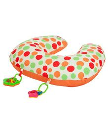 Clevamama ClevaCushion 10 in 1 Polka Dots - Orange & Cream