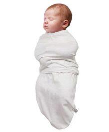 Clevamama Stripe Swaddle Wrapper - Cream