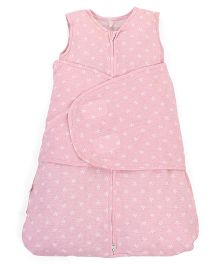 Clevamama 3 In 1 Swaddle Sleep Bag Star Design - Pink