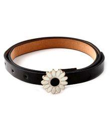 D'Chica  Glam Flower Buckle Belt For Girls - Black