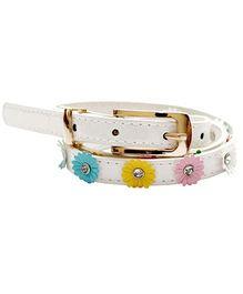D'Chica Spring Love Flowery Girl Belts - White