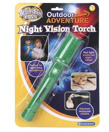 Brainstorm Outdoor Adventure Night Vision Torch - Green