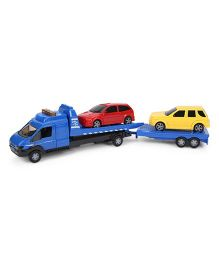 John World Rescue Car Transporter Truck Assortment - Blue