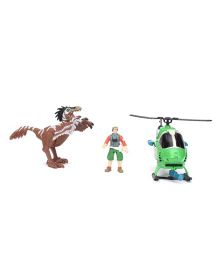 Dino Helicopter Playset - Green
