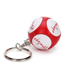 Hamleys Retro Mini Football Keyring - White Red