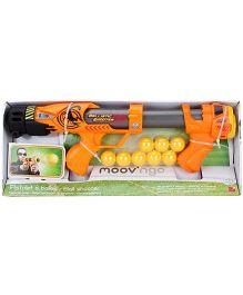 Hamleys Moov N Go Ball Blaster - Yellow And Orange