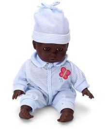 Calinou Sitting Baby Doll Light Blue - 12 Inches