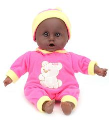 Calinou First Sounds Baby Doll - Pink