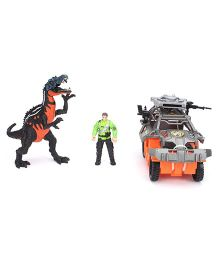 Dino Valley Small Dinosaur With Vehicle - Multicolor