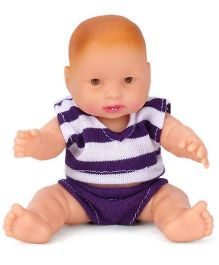 Speedage Manu Junior Doll Purple - Height 10 cm