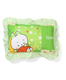 Little Wacoal Baby Pillow Baby and Stars Print - Green