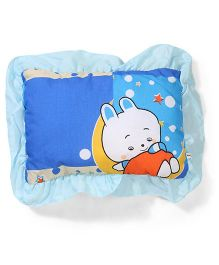Little Wacoal Baby Pillow Baby and Stars Print - Blue