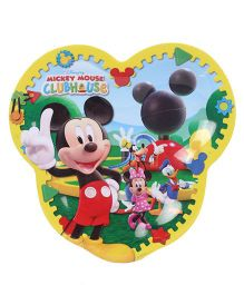 Disney Mickey Mouse Head Shape Plate - Multicolor