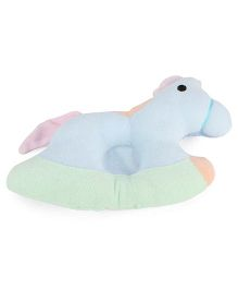 Little Wacoal Horse Pattern Baby Pillow - Sky Blue