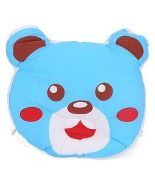 Little Wacoal Baby Pillow With Bear Face Design - Blue