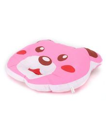 Little Wacoal Baby Pillow With Bear Face Design - Pink