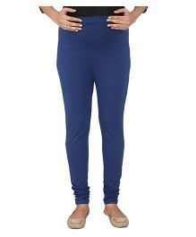MomToBe Cotton Maternity Leggings - Blue