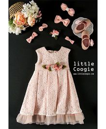 Little Coogie Floral Party Dress - Baby Pink
