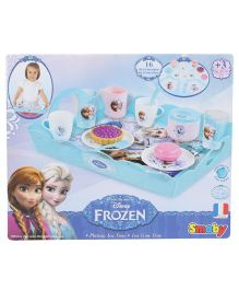 Smoby Frozen Tea Time Tray Blue And Pink - 16 Pieces