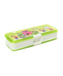 Pratap Top Rank Dream World Plastic Pencil Box - Green