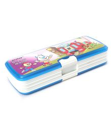 Pratap Top Rank Dream World Plastic Pencil Box - Blue