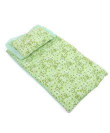 Du Bunn Bed Set With Bunny Love Print - Green