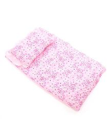Du Bunn Bed Set With Bunny Love Print - Pink