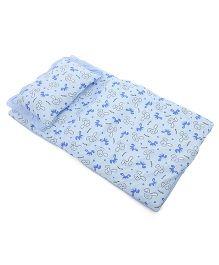 Du Bunn Bedding And Pillow Set Bear Print - Blue