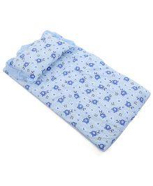 Du Bunn Bedding And Pillow Set Hearts And Bear Print - Blue