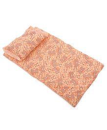 Du Bunn Bedding And Pillow Set Bear Print - Orange
