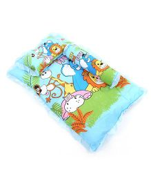 Attoon Baby Bedding With Bolster And Pillow Animals Print  - Blue
