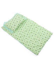 Du Bunn Bed Set With Love Bear Dotted Print - Green