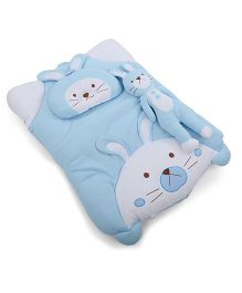 IQ Baby Baby Bedding With Bolster And Pillow Rabbit Design - Blue