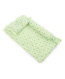Du Bunn Love Bear Print Bedding Set With Bolster - Green