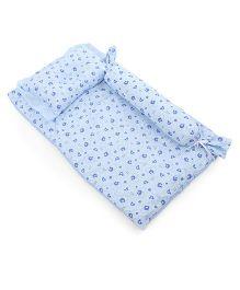 Du Bunn Love Bear Print Bedding Set With Bolster - Blue