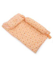 Du Bunn Love Bear Print Bedding Set With Bolster - Light Orange