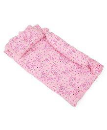 Du Bunn Love Bunny Print Bedding Set With Bolster - Pink