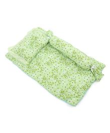 Du Bunn Love Bunny Print Bedding Set With Bolster - Green